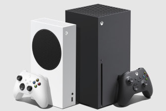 The Xbox Series S, and the much larger Series X.