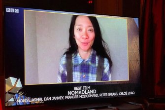 Nomadland filmmaker Chloe Zhao became only the second woman, and the first woman of colour, to win the BAFTA for best director.