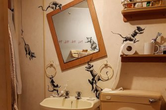 The artist known as Banksy said on his Instagram that his wife hates when he works from home.