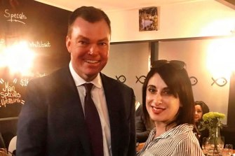 Restaurant owner Michelle Loielo with shadow attorney-general Edward O'Donohue