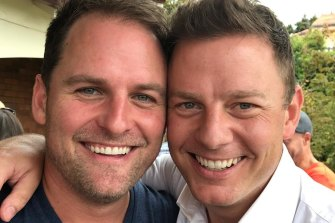 Ben Fordham with brother Nick, who now runs the family business.