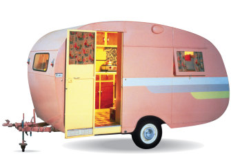 Caravans such as this one from the '50s provided mobility, although people tended to take them to the same place every summer.