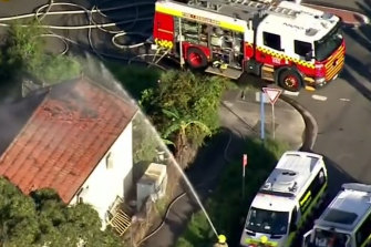 Emergency services rushed to the home on Evaline Street, Campsie about 5pm on Tuesday.