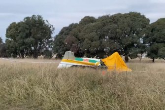Emergency services were called to a property on Tallagandra Lane, Sutton, north-east of the ACT, after reports a light plane had crashed into a paddock.