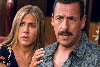 Jennifer Aniston and Adam Sandler star in Netflix film Murder Mystery.