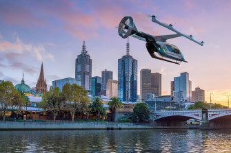 In the early days of the project, Brisbane Airport Corporation expected the private sector to offer commercial flying taxis in Brisbane.