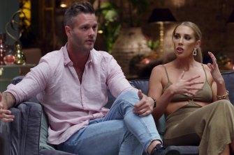 Jake and Rebecca argue during MAFS' season finale.