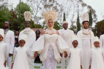 Beyonce in a scene from her new visual album Black Is King.