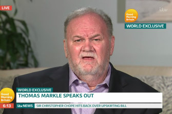 Thomas Markle speaks in a previous UK breakfast television appearance.