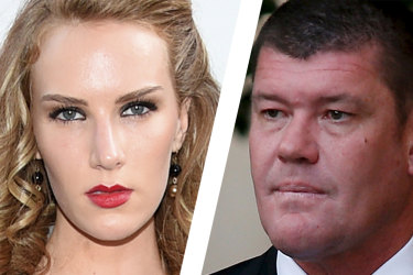 Charlotte Kirk and James Packer