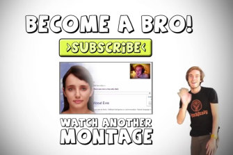 A subscribe message from PewDiePie.
