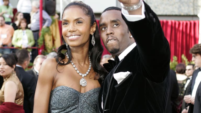 Kim Porter and Sean 'Diddy' Combs together at the Oscars in 2005.