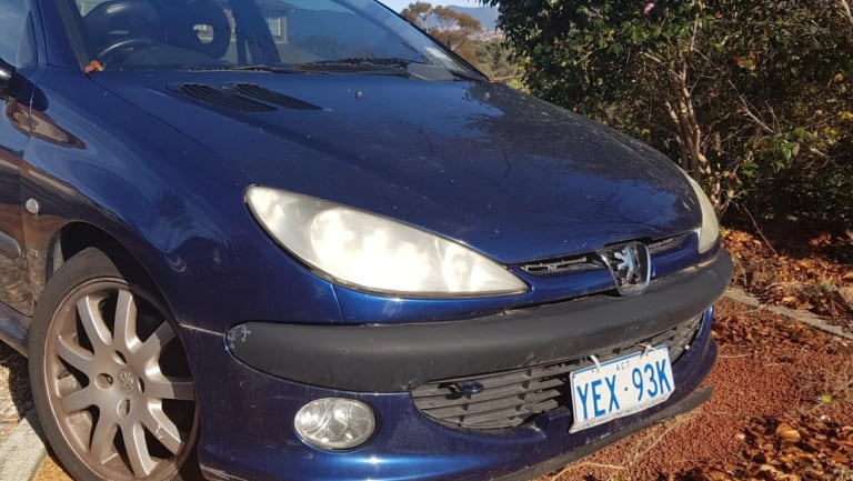 ACT Policing is seeking information about a blue Peugeot involved in a hit and run on Thursday July 26 2018.