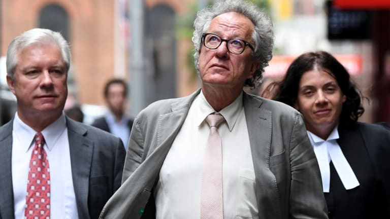Geoffrey Rush's legal action against The Daily Telegraph is still before the court.