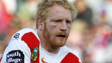 Words and actions: James Graham's influence is powerful on and off the field for the Dragons.