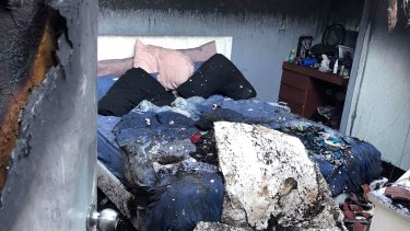The fire gutted the home and has left the family of five with nothing.