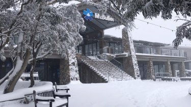 Mt Buller has been blanketed with 40cm of fresh snow after a cold snap moved across Victoria on Friday.