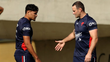 A fit-looking Boyd Cordner at Roosters training in May.