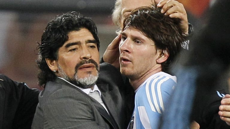 Master and apprentice: Pele says Argentine legend Diego Maradona was a better player than his former charge Lionel Messi.