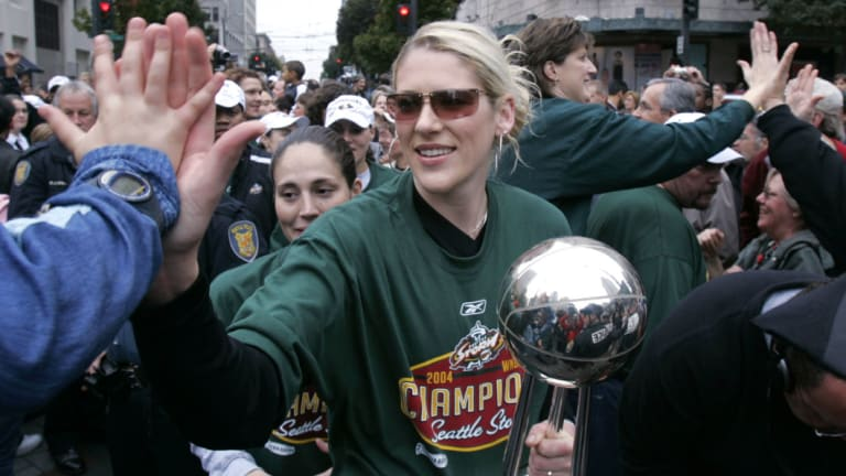 Jackson after winning a WNBA title with Seattle.