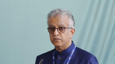AFC president Sheikh Salman Bin Ibrahim Al-Khalifa.