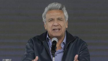 Ecuador's President Lenin Moreno.