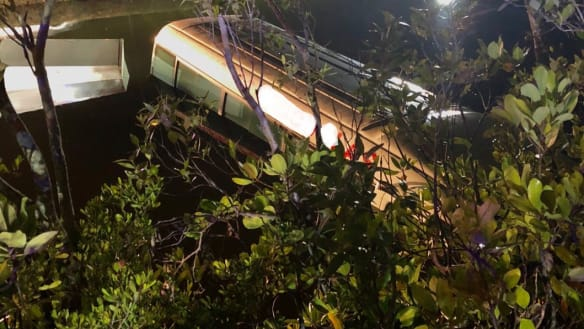 Queensland cop drags bus driver from crocodile creek