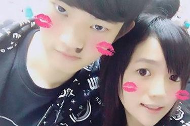 Chan Tong-kai, left, with his girlfriend, Poon Hiu-wing.