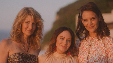 Laura Dern, Nicky Zimmermann and Katie Holmes at the Zimmermann party in Capri.