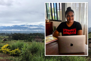 St Catherine's international student Rowjana Bori completed her HSC year at home in Papua New Guinea.