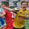 Mariners off bottom of ladder with upset over Adelaide United