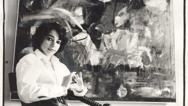 Mirka Mora at the Tolarno Gallery, 1969.
