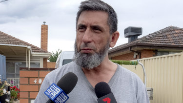 Armagan Eriklioglu, father of two men accused of plotting a terror attack in Melbourne.