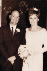 Noreen and Peter Solomon on their wedding day.