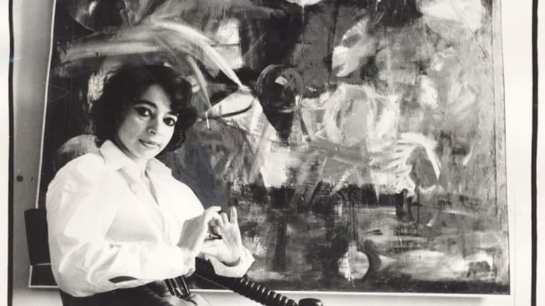 Mirka Mora at the Tolarno Gallery, 1969.