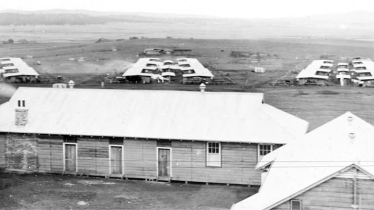The Molonglo internment camp, at what is now Fyshwick.