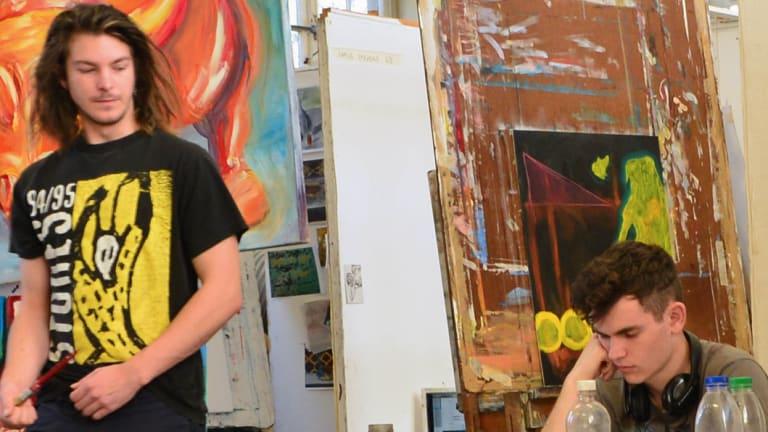 Students at the National Art School, in Sydney's Darlinghurst.