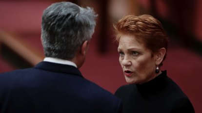 Nationals fume at Mathias Cormann's 'too cosy' relationship with Pauline Hanson