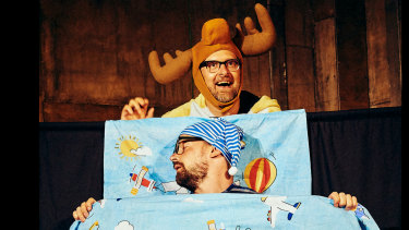 Captain Cauliflower and Marvin the Mischievous Moose have their young audience on the edge of their seats.