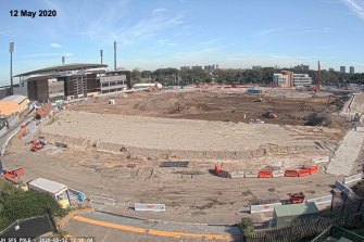 The stadium site as of May 12.