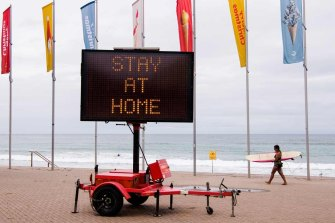 Australians in many areas were encouraged to stay at home over the holiday period to avoid spreading the coronavirus.