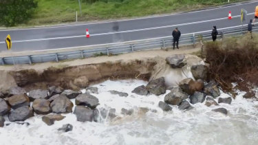 Erosion at Inverloch is now threatening the coast road and nearby homes