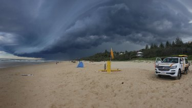 FILE IMAGE: Storms above Sunshine Beach in Noosa.