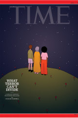 Ruby Jones' illustration on the cover of Time magazine's international April 1 edition.