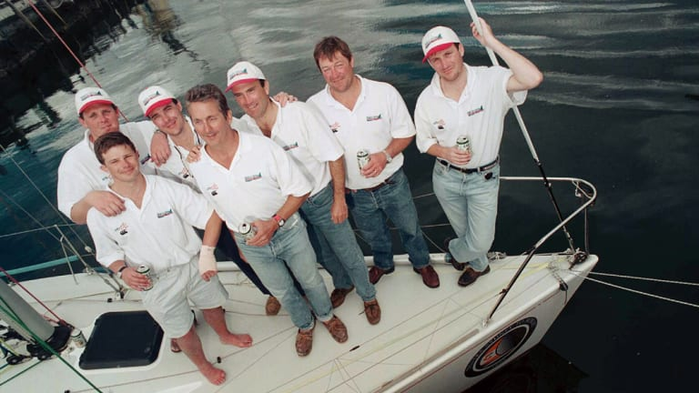 Midnight Rambler's crew had sailed more than 50 Hobart races among them before this event.