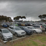 Woman confronts underwear-clad carjacker in hospital car park