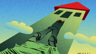 The biggest obstacle to getting in the property market is coming up with the deposit. Illustration: Michael Mucci