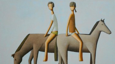 An example of work from the show is The Ride by Craig Parnaby, acrylic on linen, 40 x 60cm.