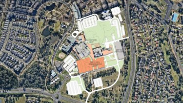 The $632 million Campbelltown Hospital redevelopment site. Public transport to the area is another question.