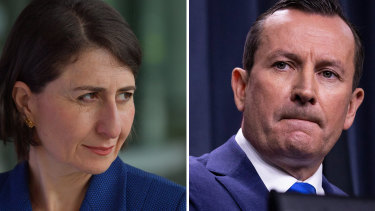 New South Wales Premier Gladys Berejiklian is calling on a border re-think while Mark McGowan stands pat on restricted travel from eastern states.